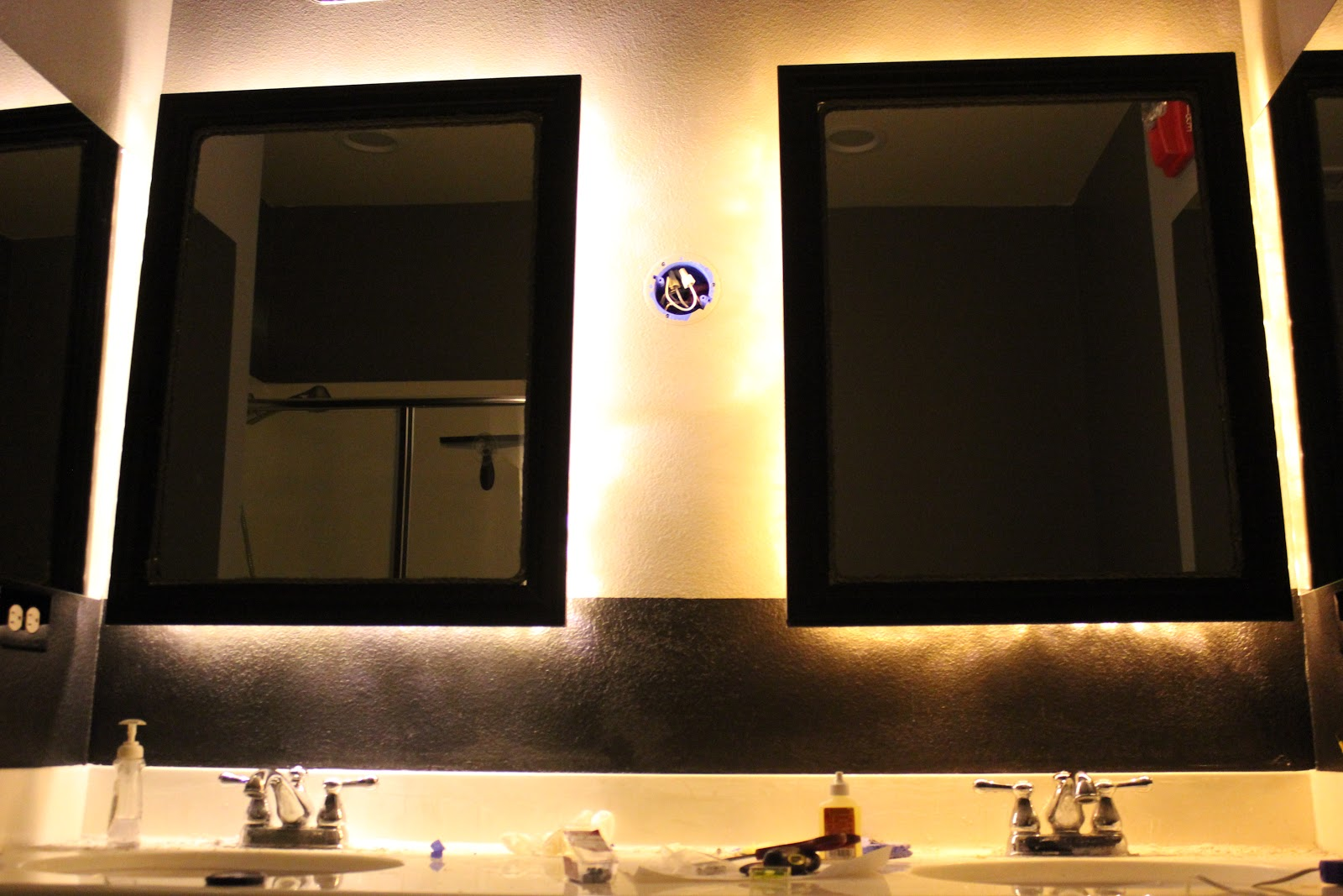 Diy Led Mirror Frame Inside The Frame The Master Bathroom Project Adding