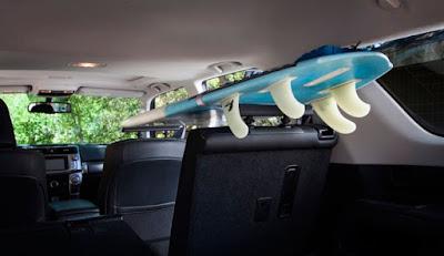 In Car Surfboard Rack
