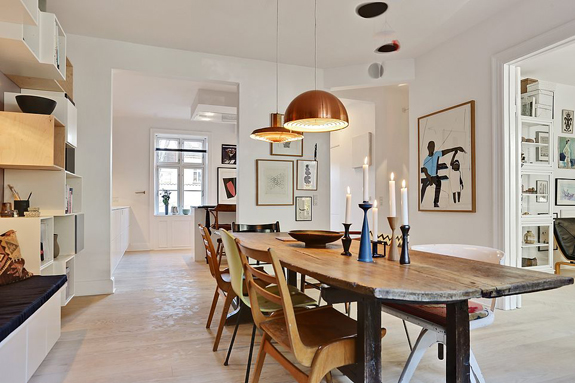 Skandinavisches Design zwischen Vintage Möbel und Einrichten sowie geometrische Muster zum Selbermachen