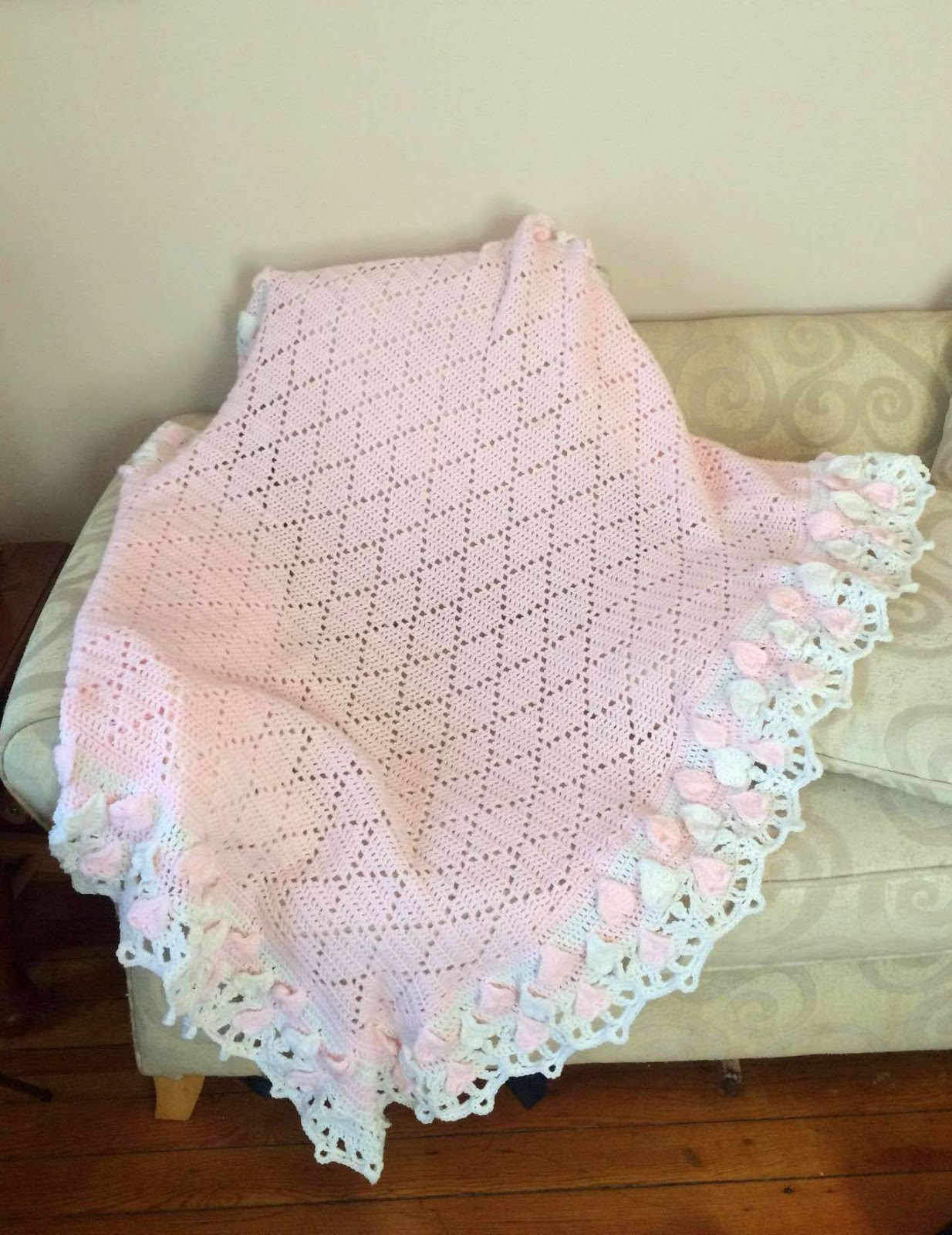 Crochet Baby Blanket Diamond Pattern ~ Dancox for .