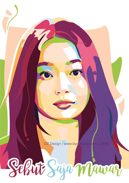 Pop Art Portrait Shin Min Ah (Gumiho)