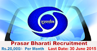 Prasar Bharati Recruitment 2015