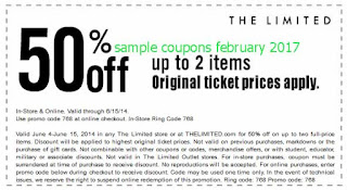 The Limited coupons february 2017