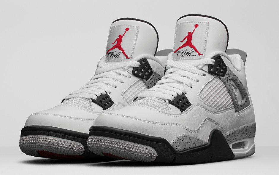 best sneakers e2e4f 8e817 Air Jordan 4 Retro OG White Fire Red-Black-Tech Grey Release Reminder.