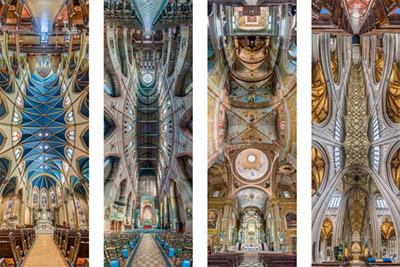 Photo panoramiques verticales de Richard Silver de plafonds d'églises