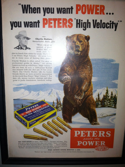 Vintage Peters Ad Featuring Grizzley Bear
