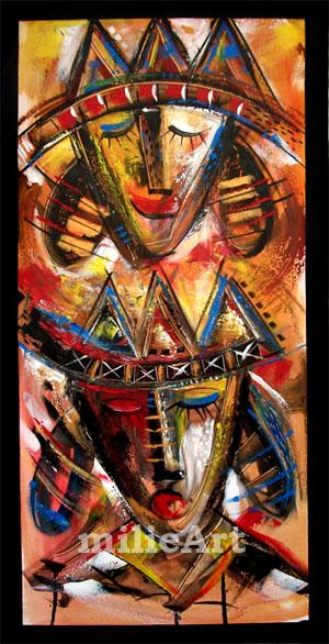 lukisan dekoratif topeng