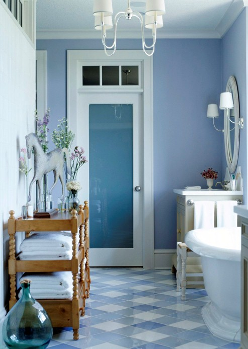 Blue Bathroom Design
