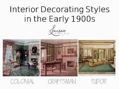 The philosophy of interior design early 1900s part 3 for Styles of homes built in 1900