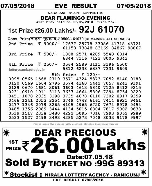 lottery sambad 7 may 2018 8pm result