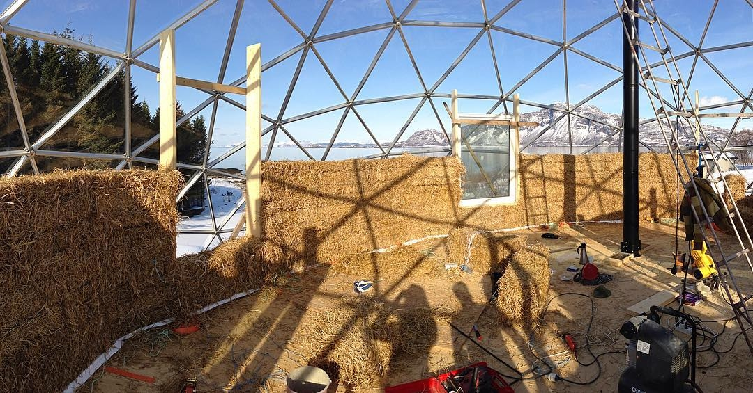 08-Hjertefølgers-Architecture with a Cob House built in a Geodesic Dome in the Arctic Circle
