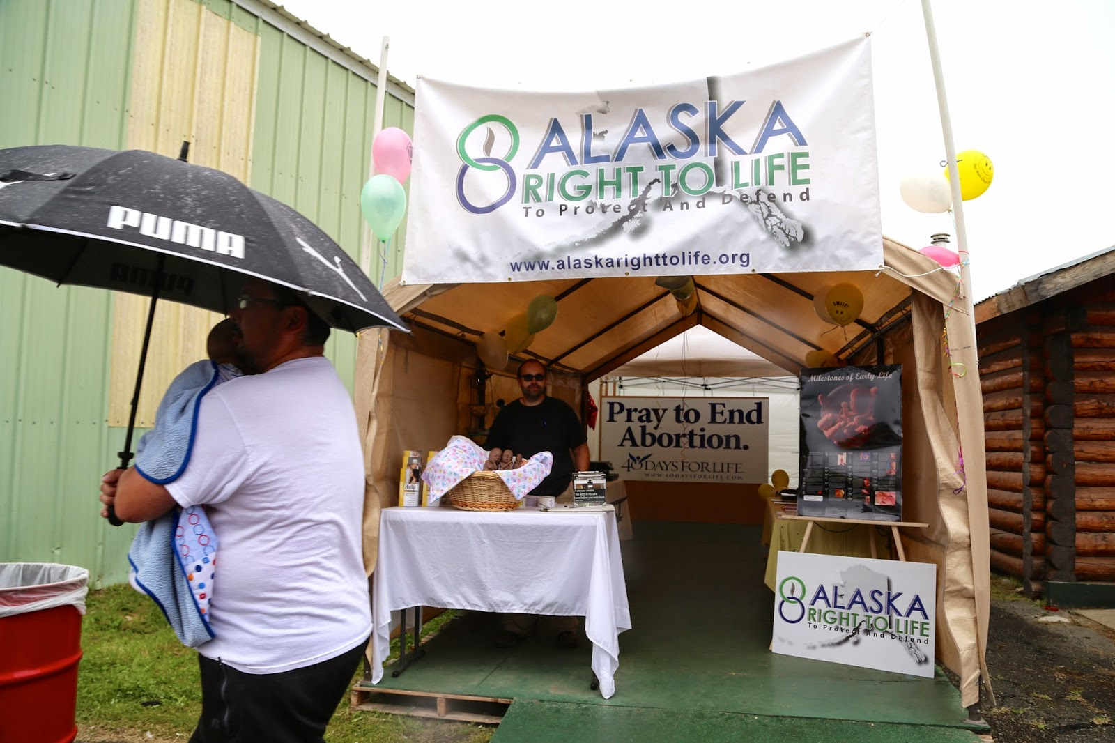 Right to life stand, Alaska State Fair