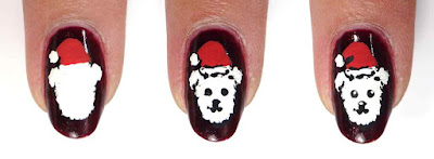 Christmas Dog Nails