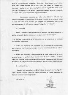 ANTE LAS AMENAZAS DE DESCUENTO