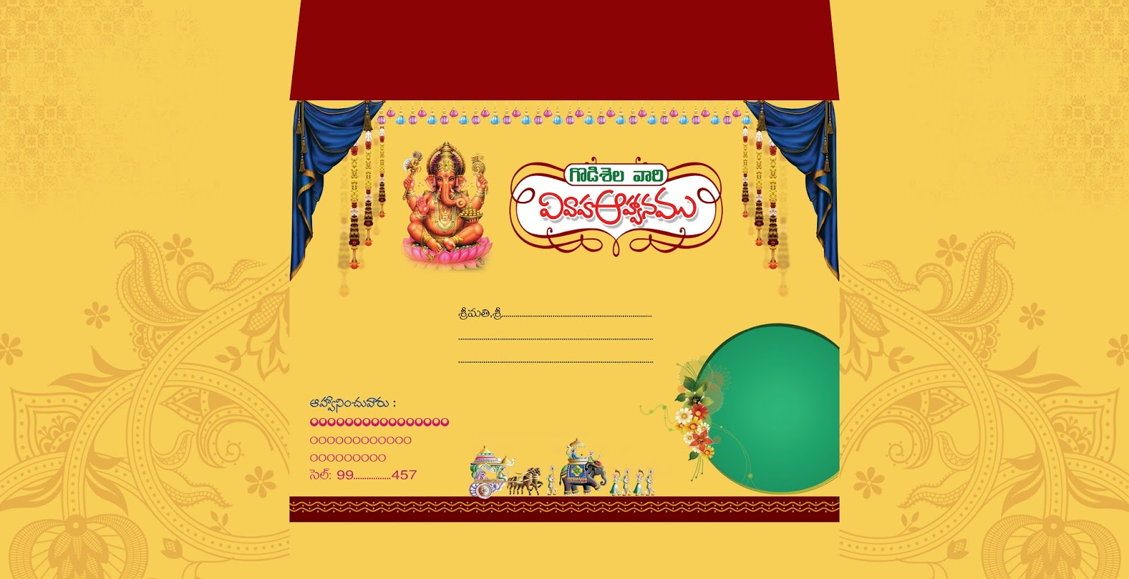Wedding and Jewellery: Telugu wedding card matter in ...