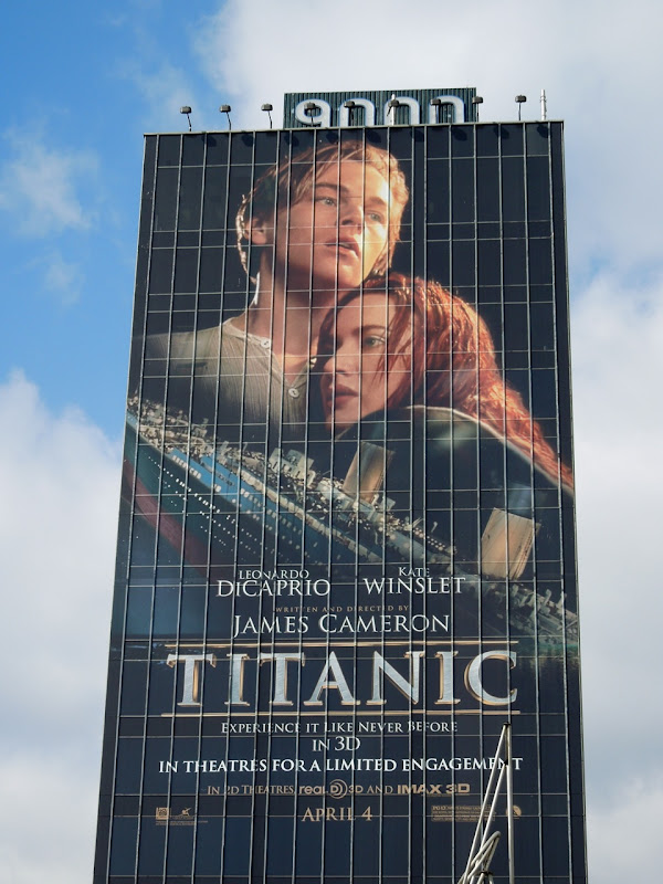 Titanic movie re-release billboard
