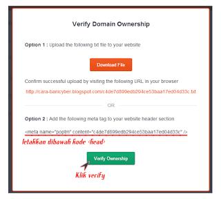 Cara Daftar Website di Poptm.com