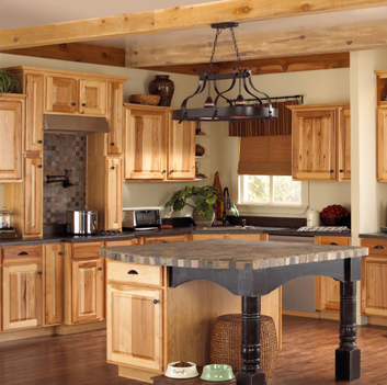 Colorado Hills: Hickory cabinets like our choosen style