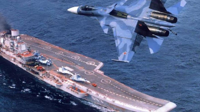 Cazas de portaaviones ruso aplastan 1000 blancos de EIIL en Siria