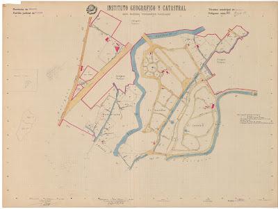 Mapa Nacional Topográfico parcelario. Zaragoza. 1951