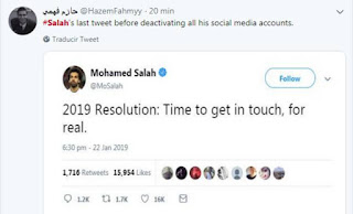 """Mohamed Salah disappears from social media after posting: """"2019 Resolution: Time to get in touch, for real"""""""
