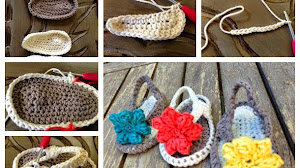Sandalias con flor para bebé