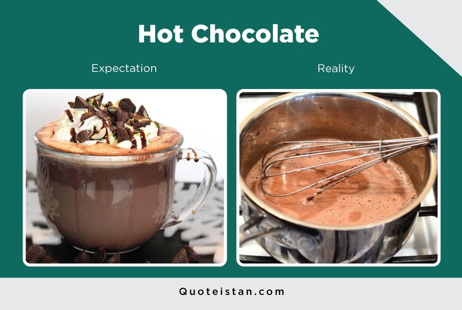 Expectation Vs Reality: Hot Chocolate