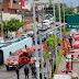 Ônibus tomba em avenida e deixa 30 feridos em Fortaleza