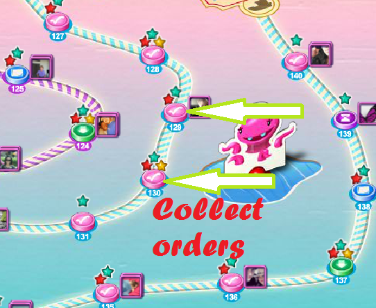 Candy Crush Saga All Help How To Collect Orders In Candy Crush Saga