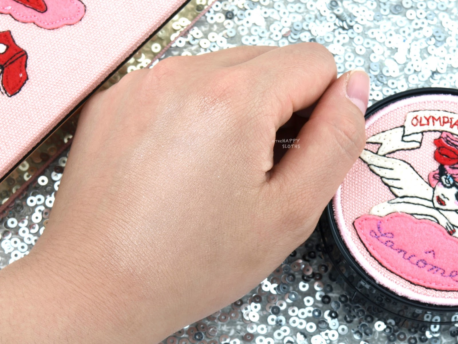 Lancome x Olympia Le-Tan | Cushion Highlighter: Swatches and Review