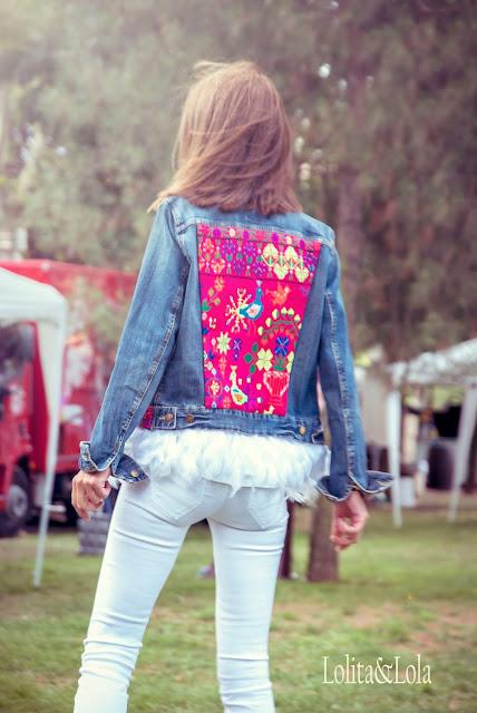 cazadora, boho, indie, hippie, jacket, denim, bohemian, gypsy, vaquera