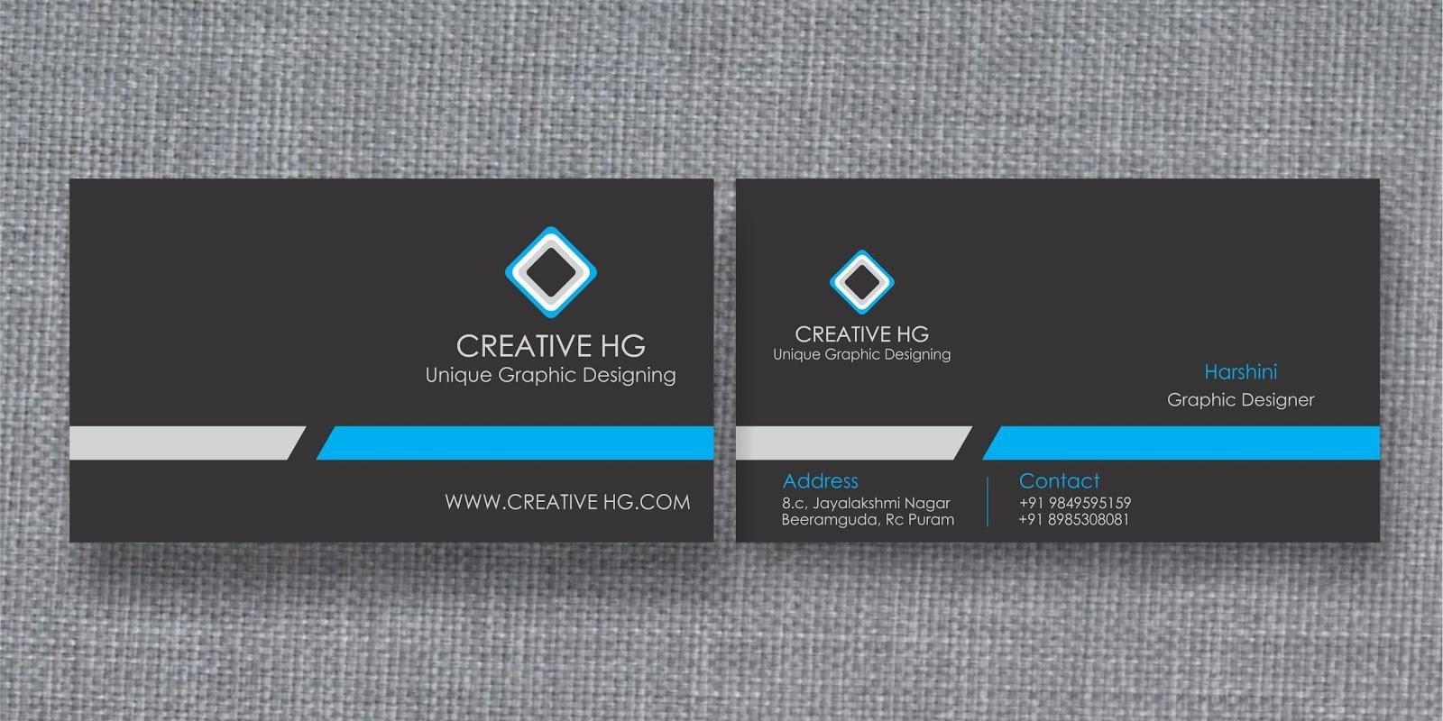 Business card - Harshini Creative Graphics