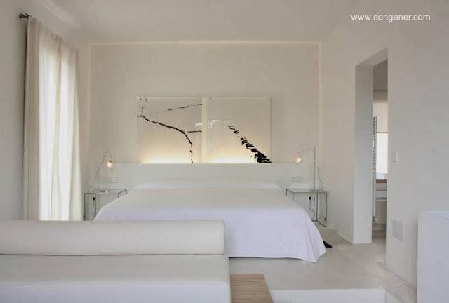 Habitación de diseño y decoración contemporáneos