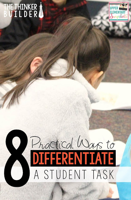 Eight ideas for differentiating the tasks you have students do to practice key skills and strategies.