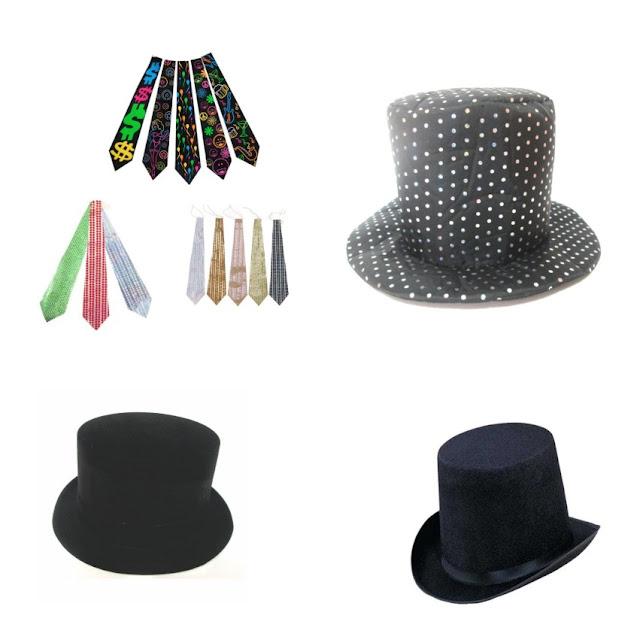 acessorios-para-festas-cartolas-e-gravatas-paetes-e-gravatas-que-brilham-no-escuro