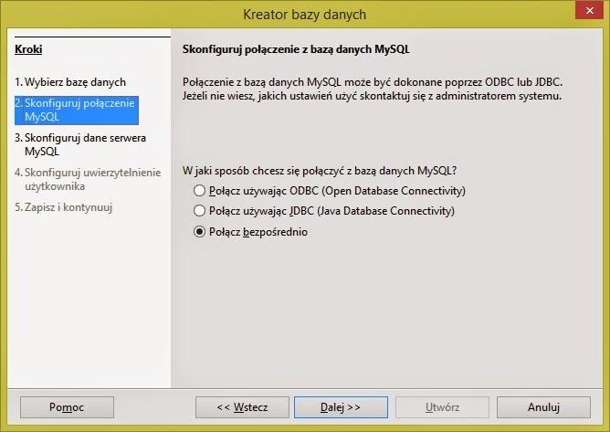 Open Office - MySQL - Połącz bezpośrednio