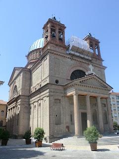Dogliani's imposing church of Sant Quirico and Paolo, designed by Giovanni Battista Schellino