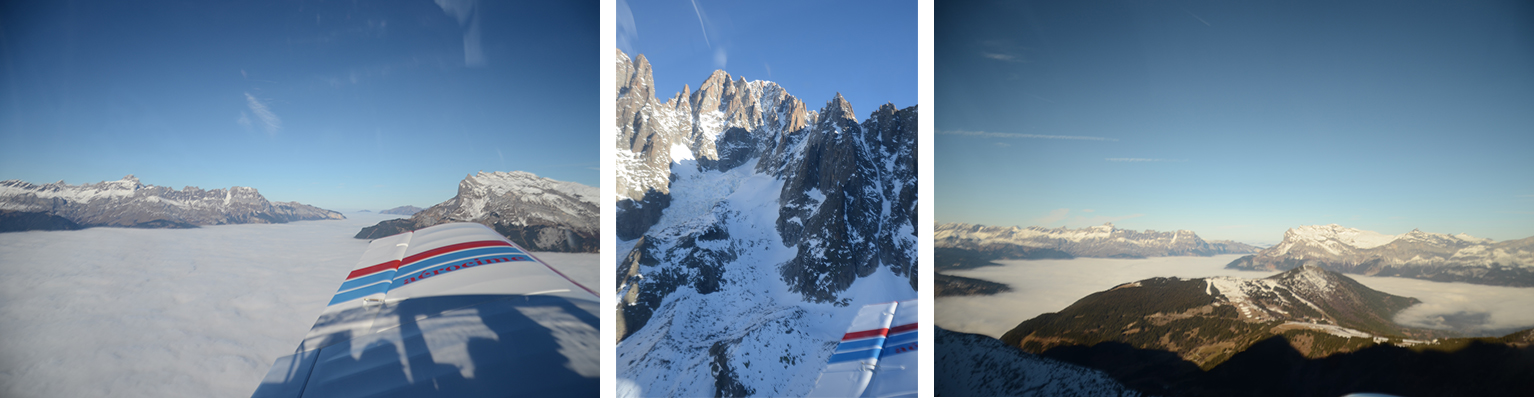 Survol des glaciers Megève