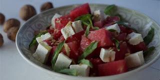 diyet karpuz salatası, diyetler için salata, kolay salata tarifleri, KahveKafeNet