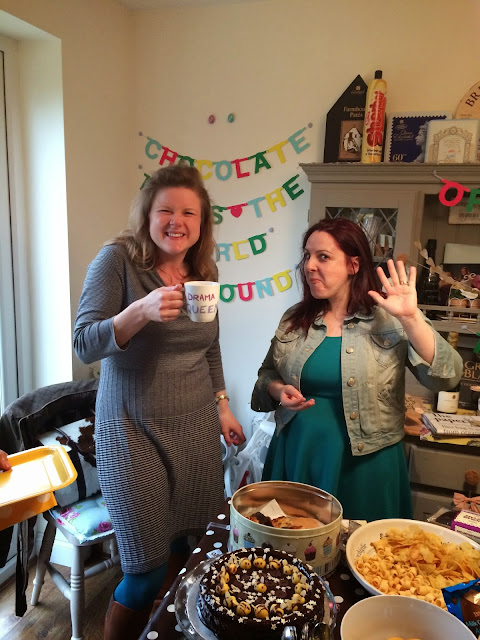 Mags and Liz at Mrs Bishop's Chocolate Tea Party