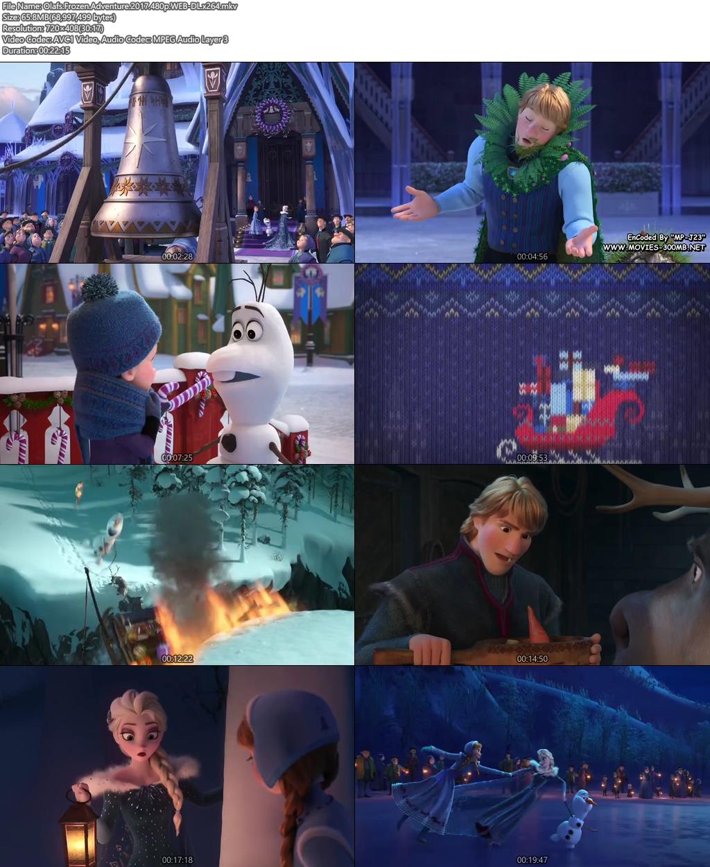 Olafs Frozen Adventure 2017 480p WEB-DL 100MB x264 Screenshot