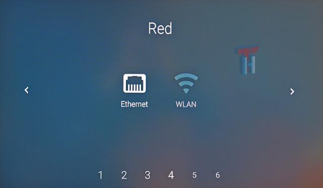 Se muestran dos iconos a seleccionar: uno de red cableada y otro de wifi.