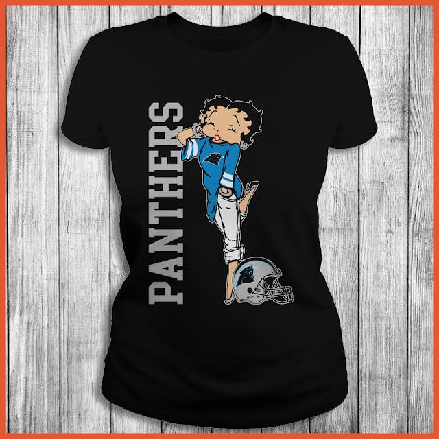 Carolina Panthers Betty Boops T-Shirt