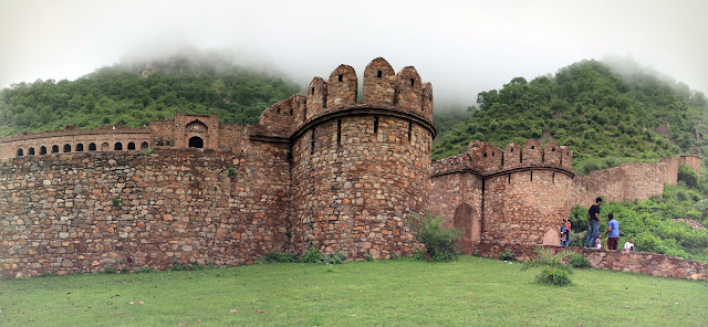 Boundary wall of Bhangarh Fort