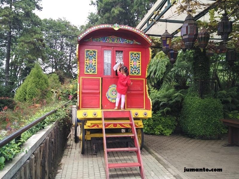 naik kereta di farmhouse