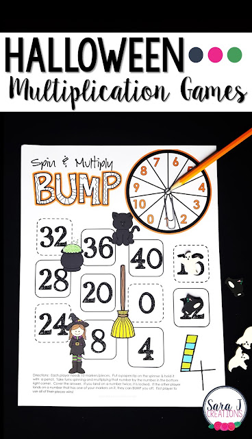 Halloween multiplication games for learning fun!