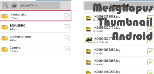 Cara menghapus thumbnail di android