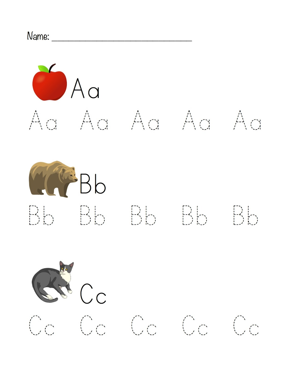 Printable Abc Tracing Worksheet