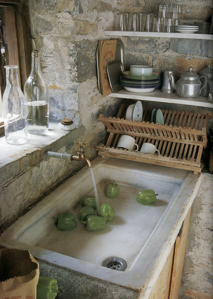 La fabrique d co cuisine rustique chic et esprit brocante - Evier cuisine en pierre ...
