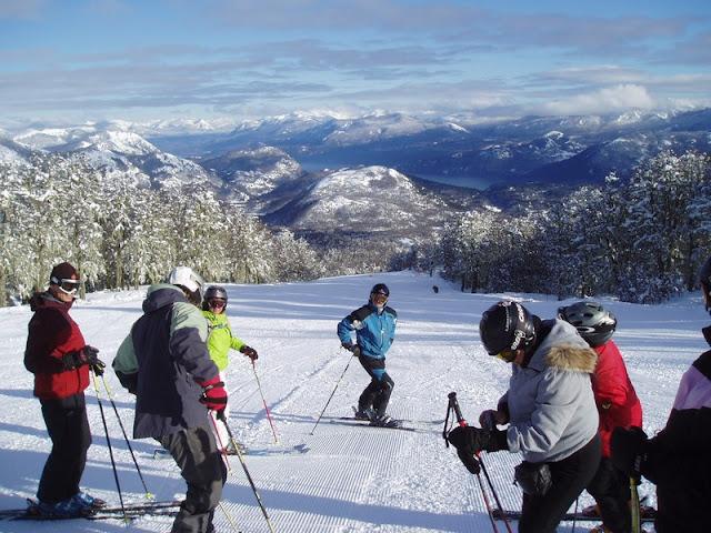 Estação de esqui Cerro Chapelco na Argentina